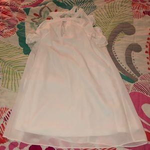 Alythea Halter Ruffle Sleeve Dress